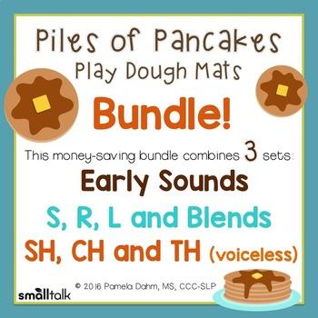 Piles of Pancakes Play Dough Mats Bundle: Early Sounds/SRL