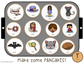 Piles of Pancakes Play Dough Mats for Articulation: Early Sounds