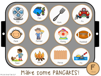 Piles of Pancakes Play Dough Mats for Articulation: F Sound Freebie