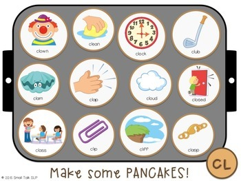 Piles of Pancakes Play Dough Mats for Articulation: S, L, R and Blends