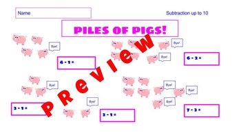 Piles of Pugs and Pigs  Printables  in a Bundle  Operation