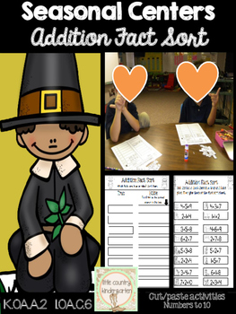 Pilgrim Addition Fact Sort: Numbers 1-10