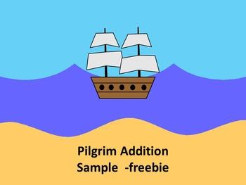 Smartboard Pilgrim Addition -sample freebie