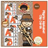 Pilgrim Alphabet Cards- Clip Cards