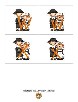 Pilgrim Alphabet Matching