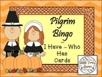Pilgrim Bingo AND I Have ~ Who Has Cards