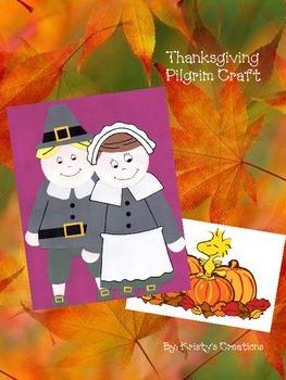 Pilgrim Boy & Girl Thanksgiving Craft