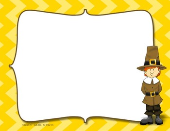 Pilgrim Boy with Yellow Chevron Digi Paper (embedded text area)