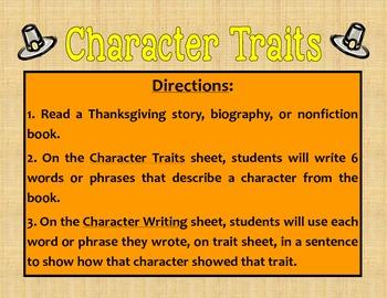 Pilgrim Character Traits