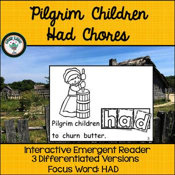 Thanksgiving Emergent Reader with Pilgrim Children