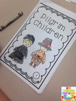 First Grade Mini-Book: Pilgrim Children