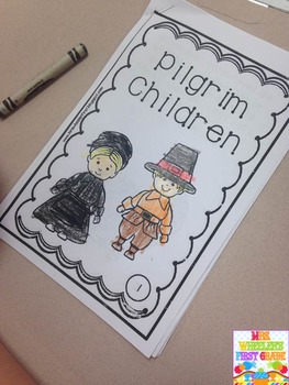 First Grade Mini-Book: Pilgrim Children