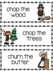 Pilgrim Chores Word List and Word Wall Cards
