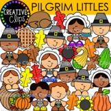 Pilgrim Clipart Kid Littles (Thanksgiving Clipart)