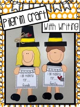 Pilgrim Craft With Writing Activity