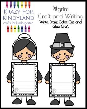 Pilgrim Craft and Writing for Kindergarten (Thanksgiving)