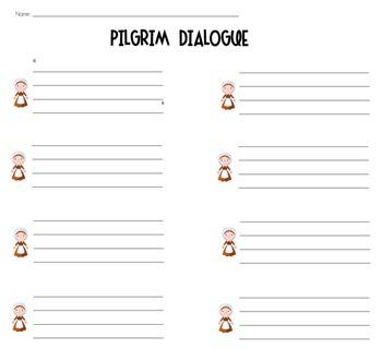 Pilgrim Dialogue Worksheets {3-6}