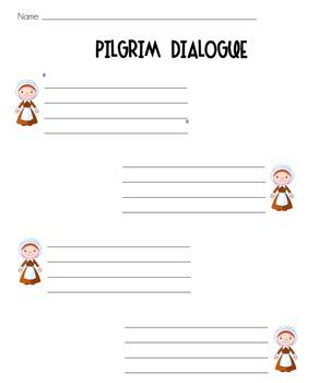 Pilgrim Dialogue Worksheets {K-3}