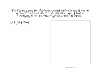 Pilgrim Did You Know booklet CCCS Aligned