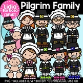 Pilgrim Family: Thanksgiving Clipart {Lidia Barbosa Clipart}