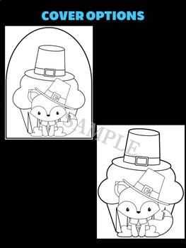 Pilgrim Fox Cupcake - Jackie's Craft Activities, Color and Write