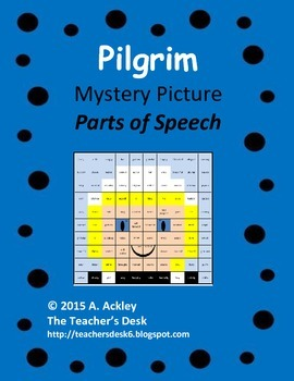 Pilgrim Girl Mystery Picture Parts of Speech