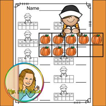 Pilgrim Girl Ten Frames/Number Recognition