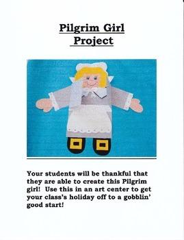 Pilgrim Girl Writing and Art Project