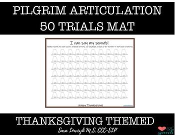 Articulation Trial Mat Pilgrim Hats for Thanksgiving FREEBIE