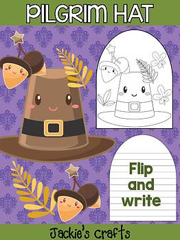Pilgrim Hat - Jackie's Crafts Activity, Writing, Thanksgiving