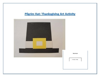 Pilgrim Hat: Thanksgiving Art Activity