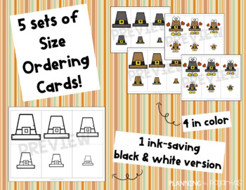 Pilgrim Hats Size Ordering (from Smallest to Largest)