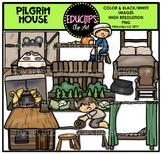 Pilgrim House Clip Art Bundle {Educlips Clipart}