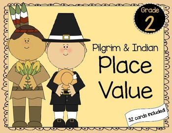 Pilgrim & Indian Place Value Station Activity