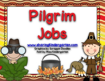 Pilgrim Jobs {Activity Cards and Writing Prompt}