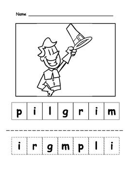 Pilgrim Letter Scramble