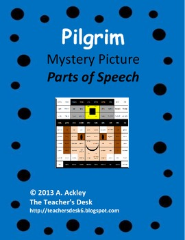 Pilgrim Mystery Picture Parts of Speech