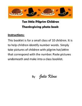 Pilgrim Number Words Photo Booklet