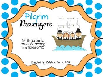 Pilgrim Passengers Adding Tens Game