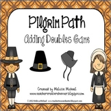 Pilgrim Path Game - Fun MATH game for 2 players!  Adding doubles