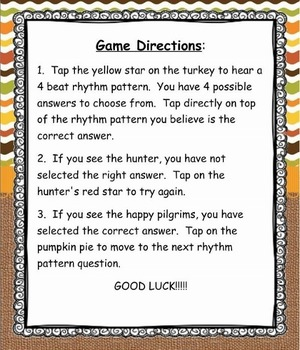 Pilgrim, Pilgrim, What Do You Hear? Level 1: Ta, Ti-Ti, Z Game (SMNTBK Ed.)