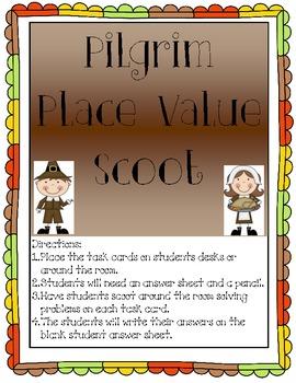 Pilgrim Place Value Scoot