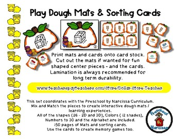 Pilgrim  -  Play Dough Manipulative Mats - Alphabet Numbers Colors Shapes