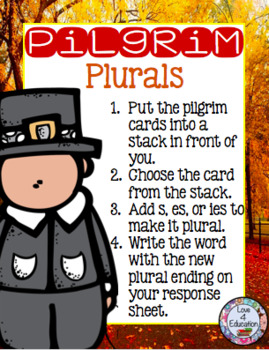 Pilgrim Plurals (A Thanksgiving Center)
