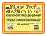 Pilgrim Poof! Addition to 5 {Common Core Aligned}