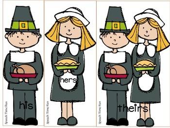 Pilgrim Possessive Pronouns