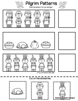 Pilgrim Printables for Literacy and Math