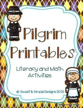 Pilgrim Printables for Literacy and Math