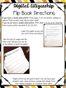 Pilgrim Research and Flip Book Foldable