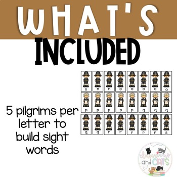 Pilgrim Sight Word Spelling Review Game November